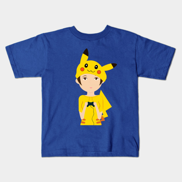 bed8c6ee Pikachu fan girl - Fan - Kids T-Shirt | TeePublic