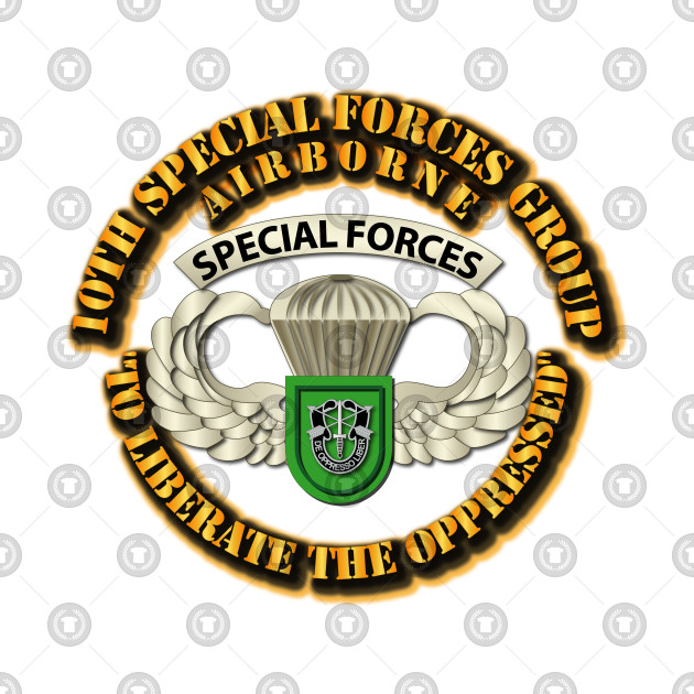 33cab887e6bf SOF - 10th SFG - Airborne Badge - 10th Special Forces Group United ...