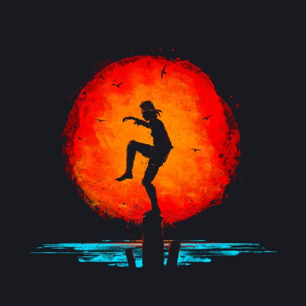 Karate Kid Minimal Tribute Painting
