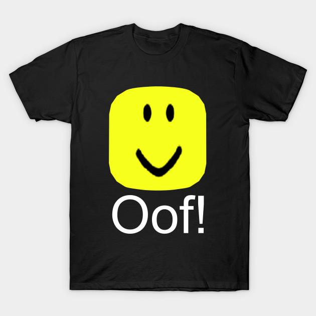 Roblox Oof Noob Head Meme Roblox T Shirt Teepublic