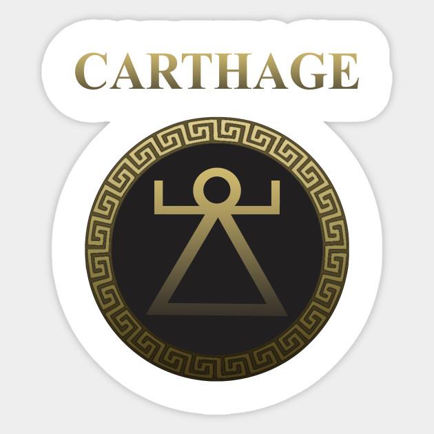 Ancient Carthage Symbol Of Tanit Carthage Sticker Teepublic