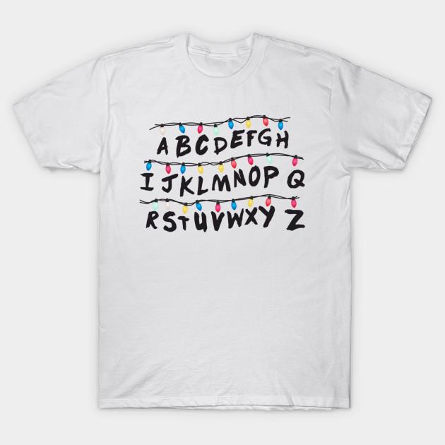 Stranger Things Alphabet Stranger Things T Shirt Teepublic