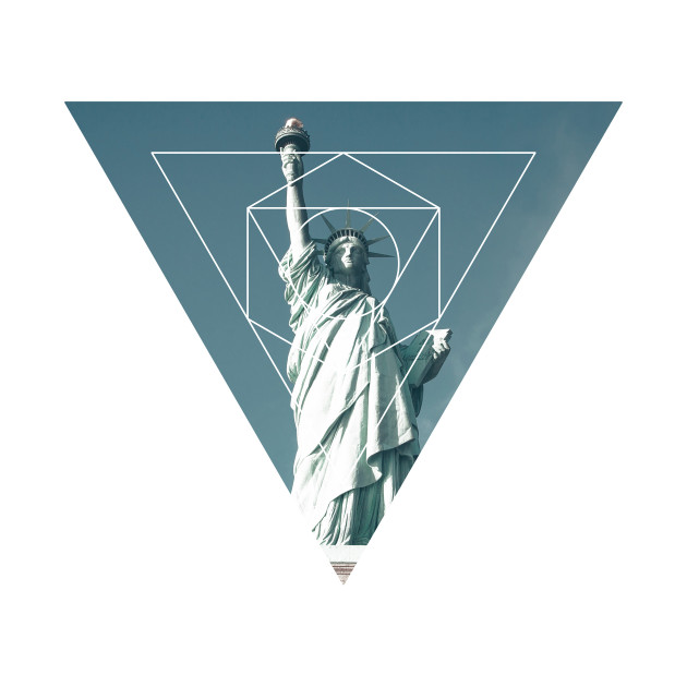 Statue of Liberty Geometric Photography