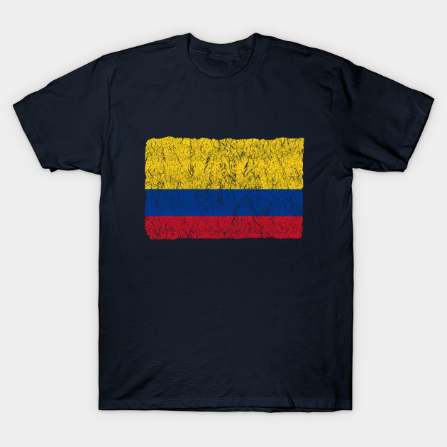 3e652f75f28 Vintage Colombia Flag - Colombian Pride - Colombia Flag - T-Shirt ...