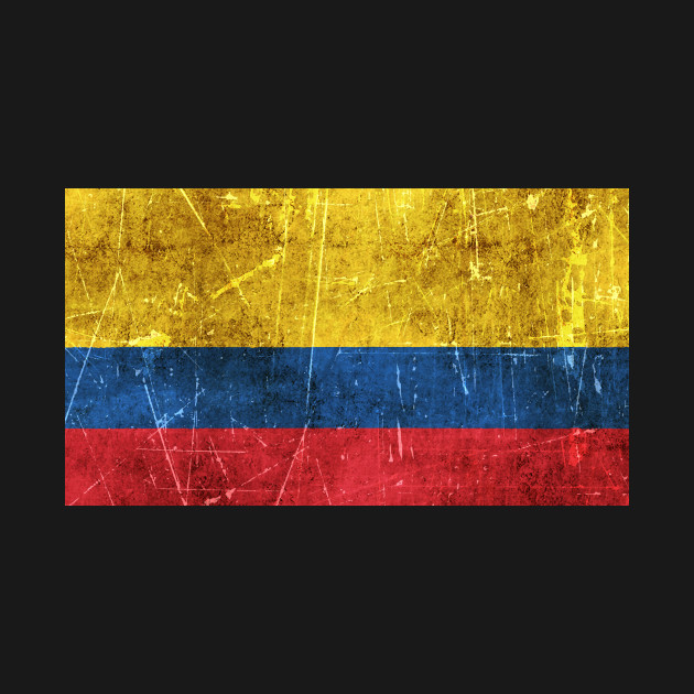 vintage aged and scratched colombian flag colombian flag t shirt
