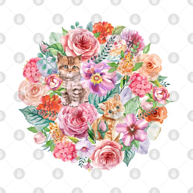 Kittens in flowers II