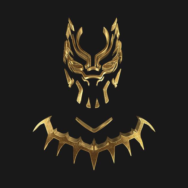 Black Panther Gold Black Panther Kids T Shirt Teepublic