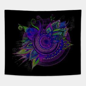 Mandala Flower Patterns Tapestries Teepublic