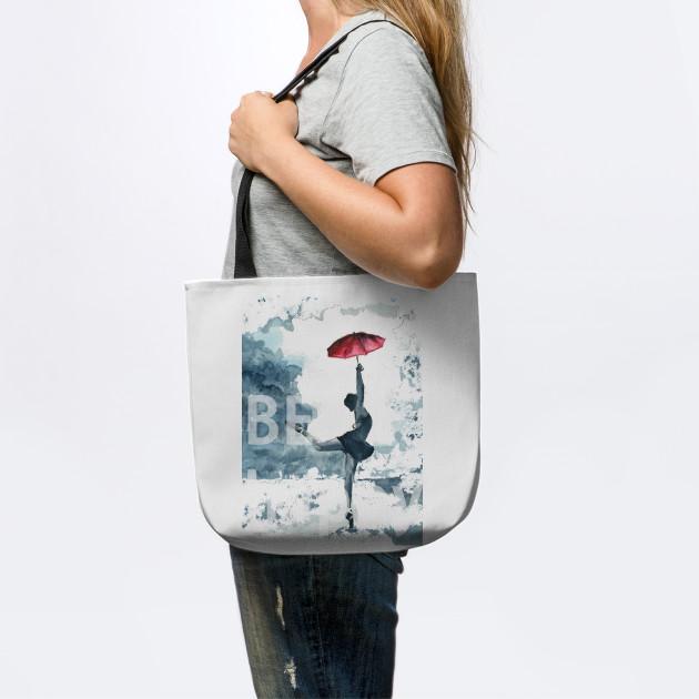be happy dance with umbrella