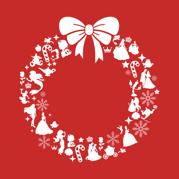 disney princesses christmas wreath pattern christmas t shirt