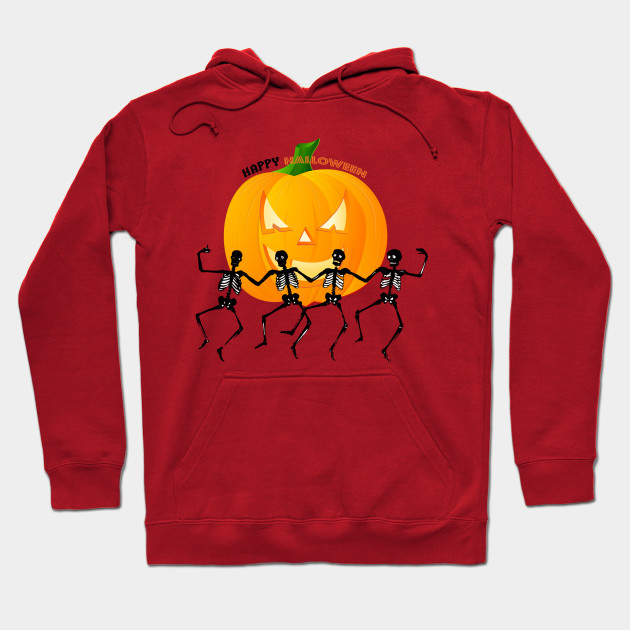 Happy Halloween - Funny Skeleton Halloween Party Camiseta Hoodie