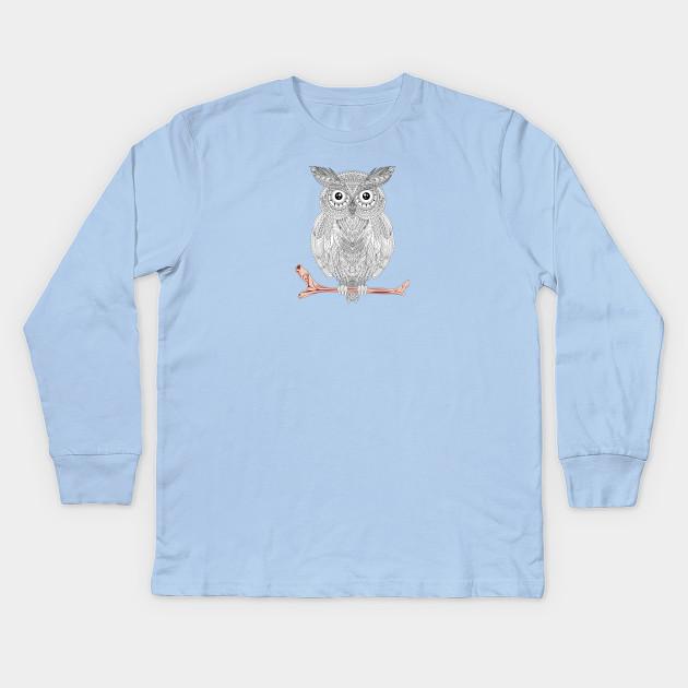 Owl Mandala Pattern Kids T Shirt