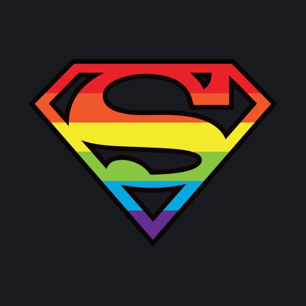 Superman Gay Pride Logo