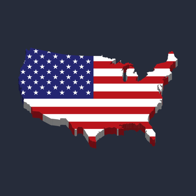 f0f8a159c016c American Map Flag - America Map Flag - T-Shirt