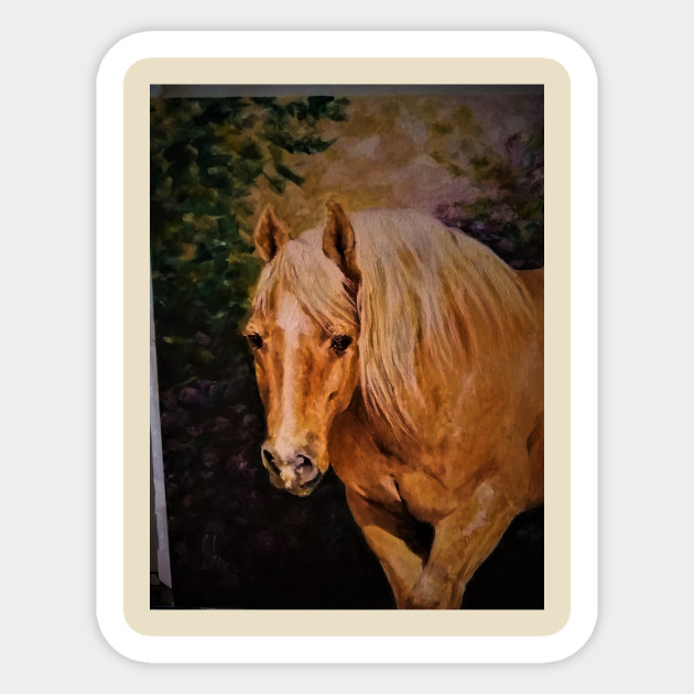 Creative Horse Lovers Birthday Gifts Ideas Palamino Portrait Artist Rendering