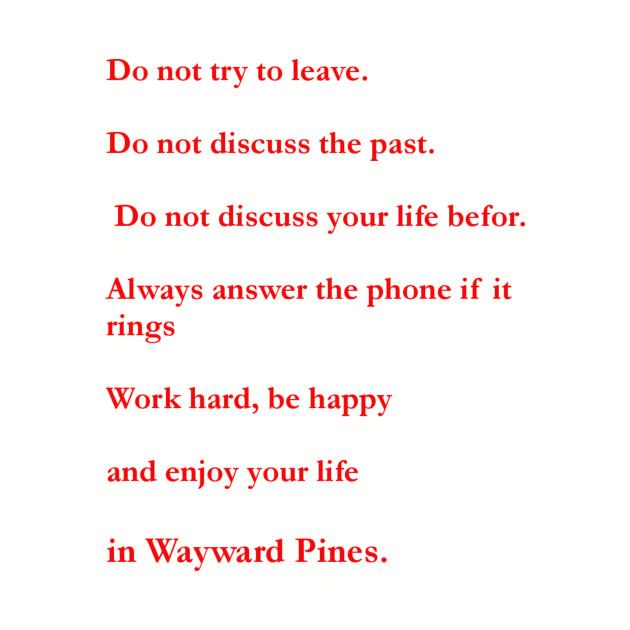 wayward pines rule list