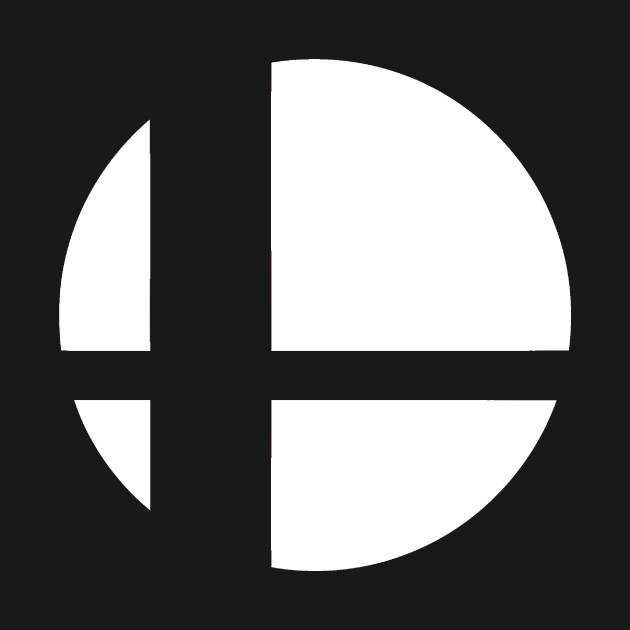 Super Smash Bros. Logo (White) - Fighting Game - T-Shirt ...