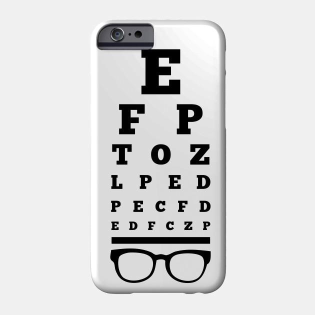 Eye Chart Optometrist Optometrist Phone Case Teepublic