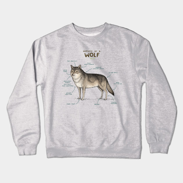 Anatomy Of A Wolf Wolf Crewneck Sweatshirt Teepublic