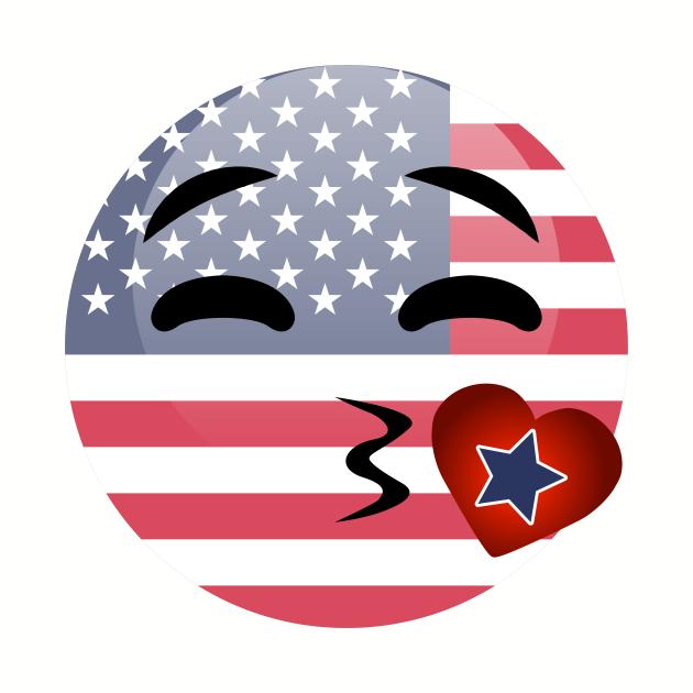 Funny Emoji 4th Of July For Girls Boys