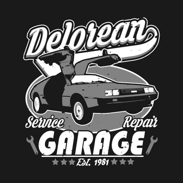 Delorean Garage T-Shirt