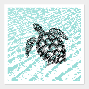 Sea Turtle Print Wall Art