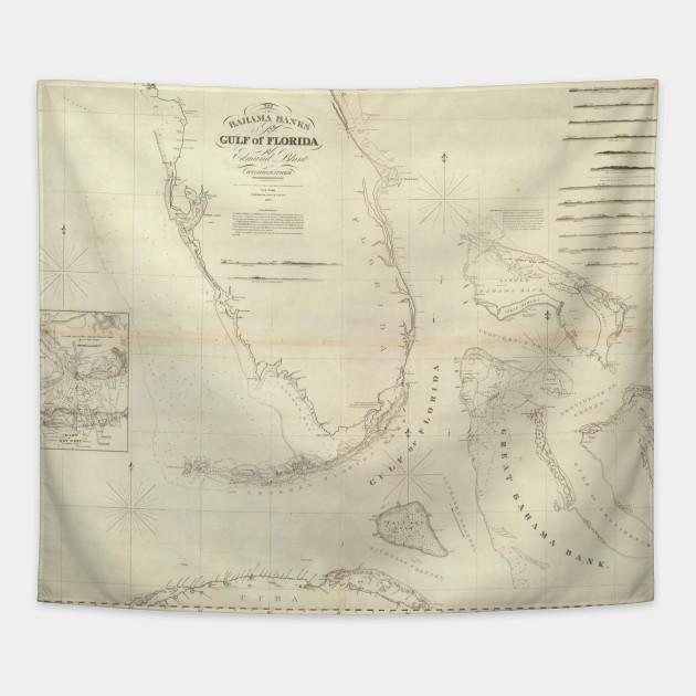 Vintage Map of Florida and The Bahamas (1827) - Florida And Bahamas ...
