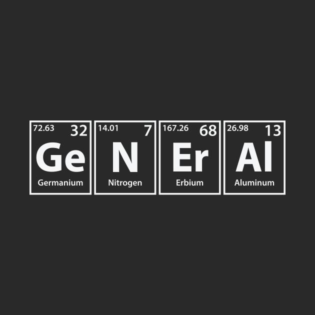 General (Ge-N-Er-Al) Periodic Elements Spelling