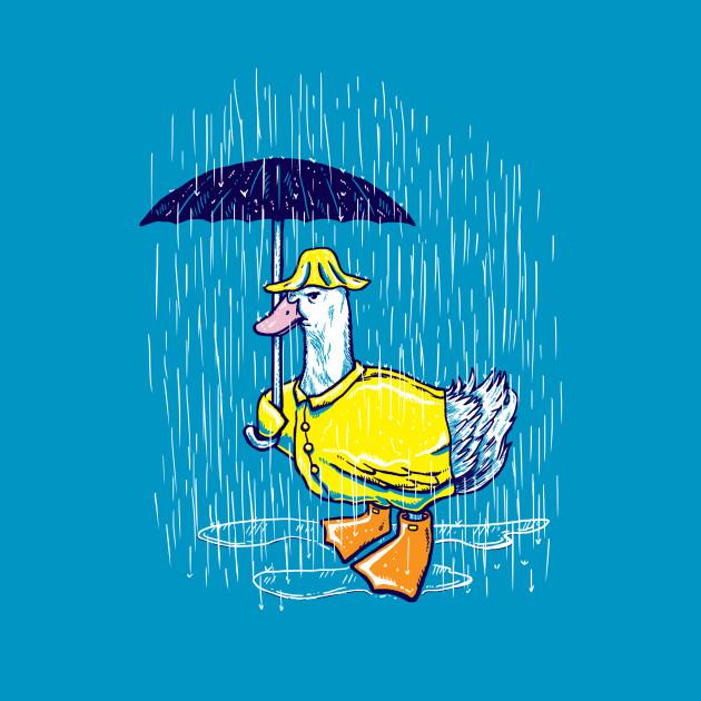 Rain Annoyed Duck