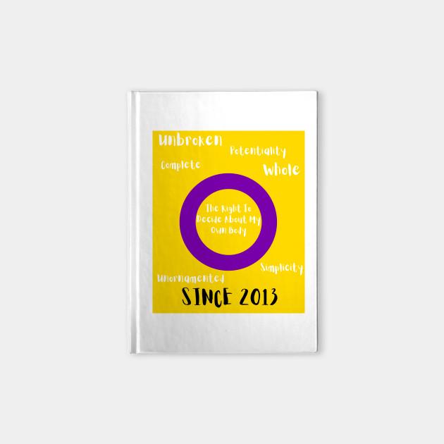 Intersex Pride Flag Meaning Lgbtq Notebook Teepublic