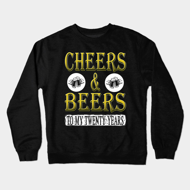 Cheers And Beer To My 20 Years Funny Birthday Gift Tshirt