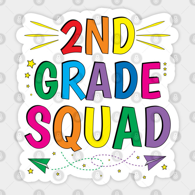 Back To School Team Second 2nd Grade Squad Teacher - Back To ...