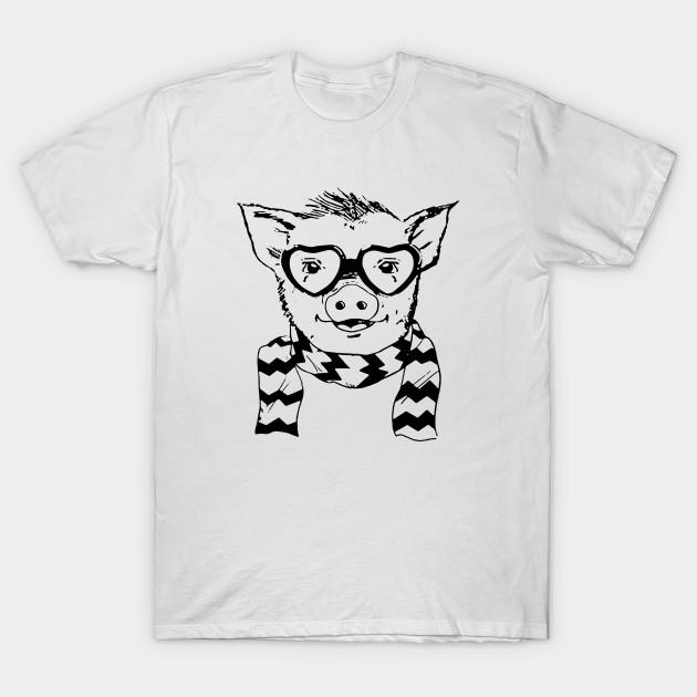 eae37bde Hipster Pig - Hipster Pig - T-Shirt | TeePublic