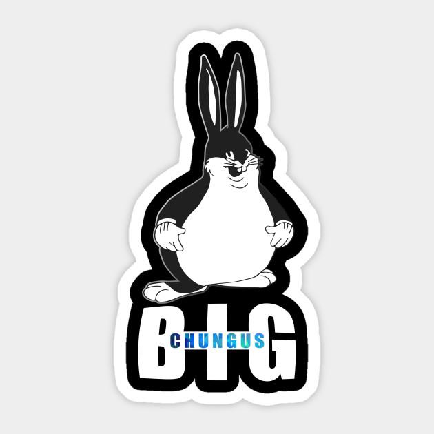 Big Chungus T Shirt Fat Bunny Meme Retro Vintage Big Chungus Meme