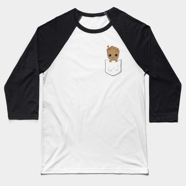2366affab9 Pocket Groot - Baby Groot - Baseball T-Shirt
