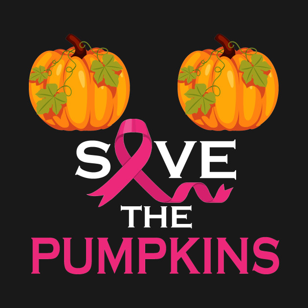 Save The Pumpkins Support Breast Cancer Awareness Ribbon Tshirt