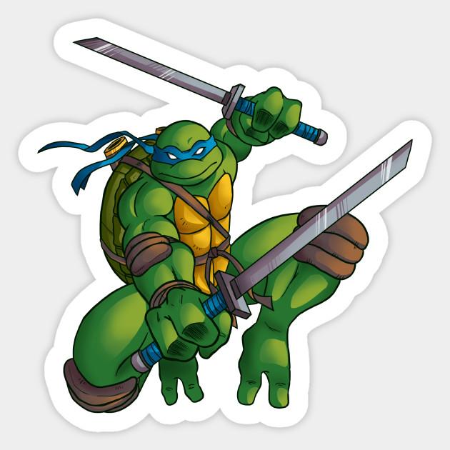 Leonardo From Tmnt 2003 Ninja Turtles Sticker Teepublic