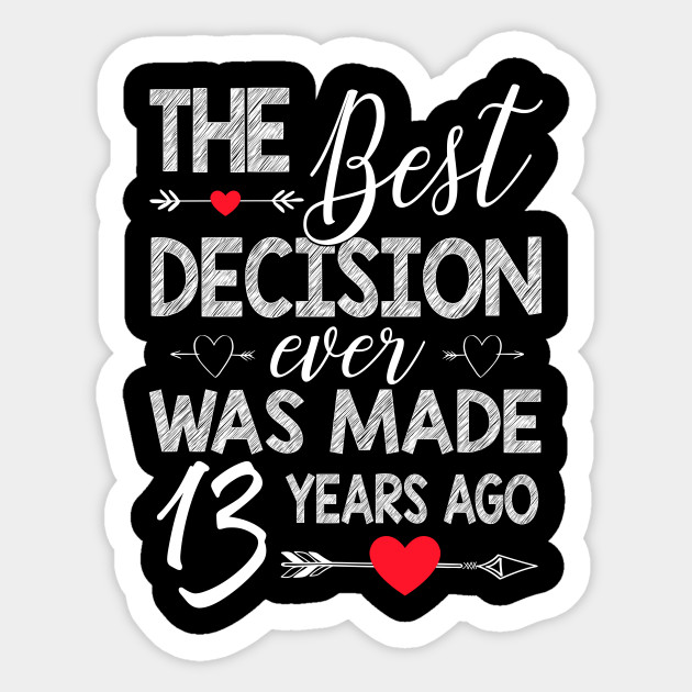 13th Wedding Anniversary Shirt For Couple 13th Wedding Anniversary Gifts Sticker Teepublic Uk