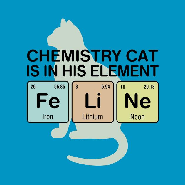 Chemistry Cat - Fe Li Ne