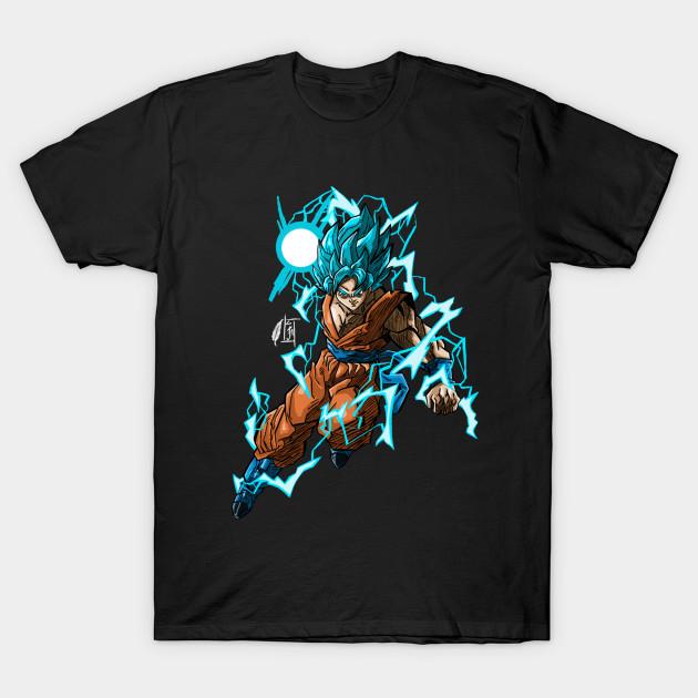 d183e3d3653 Goku (Super Saiyan Blue) by Jordan Morpeth - Goku - T-Shirt   TeePublic