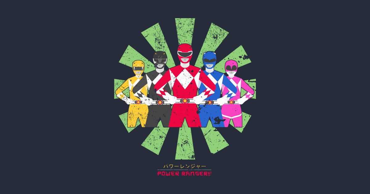 Power Rangers Retro Japanese Mens Sweatshirt