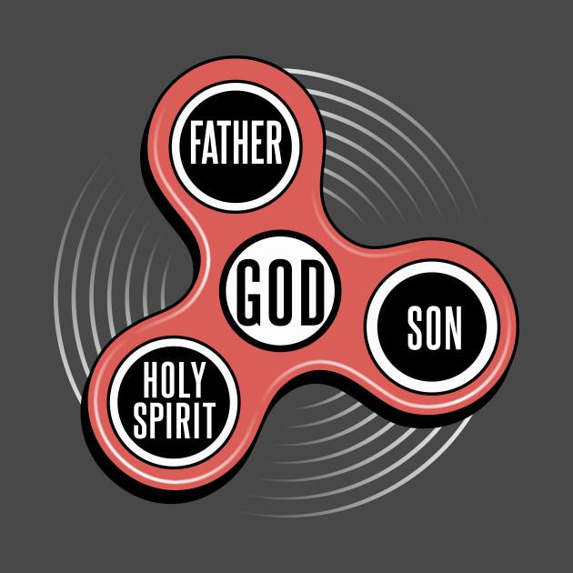 Fidget Spinner Holy Trinity Christian T Shirt Fidget Spinner T