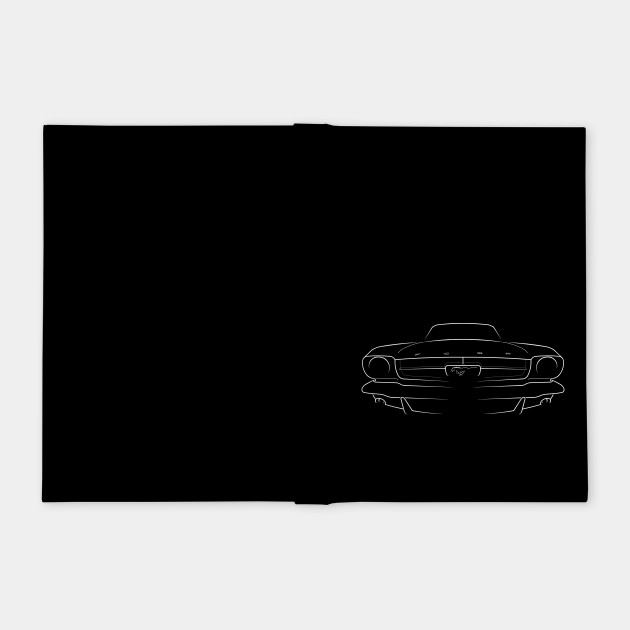 1965 Ford Mustang - front stencil, white