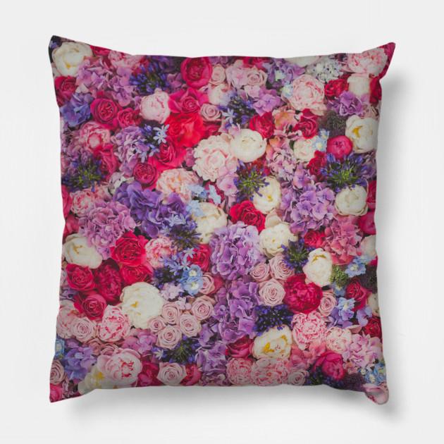 Purple Pink Flowers Purple Flowers Pillow Teepublic