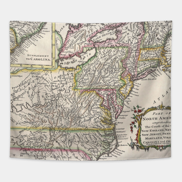 Discovering The Eastern United States Map (1759)