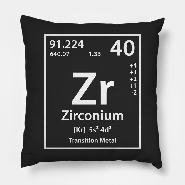 Zirconium Element Zirconium Pillow Teepublic