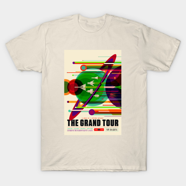 a87114bd Retro Vintage Nasa Grand Tour Advert - Nasa - T-Shirt | TeePublic