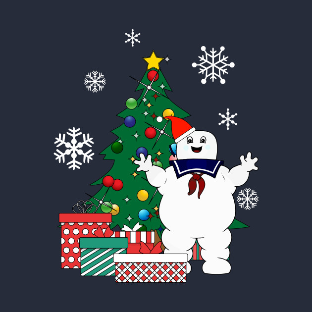 ... Stay Puft Ghostbusters Around The Christmas Tree - Stay Puft Ghostbusters Around The Christmas Tree - Stay Puft - T