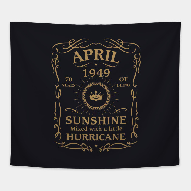 April 1949 Sunshine Mixed With A Little Hurricane Tapestry
