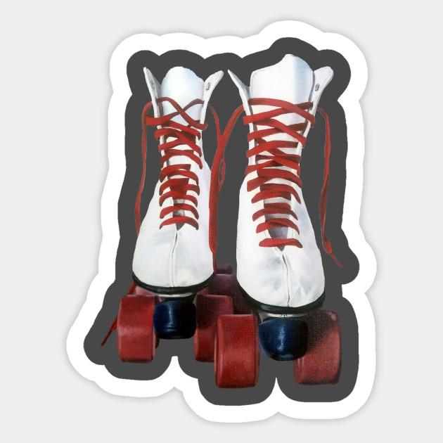 Retro Roller Skates Rollerskates Sticker Teepublic